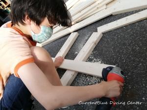 カレントブルー柵作成DIY (6)