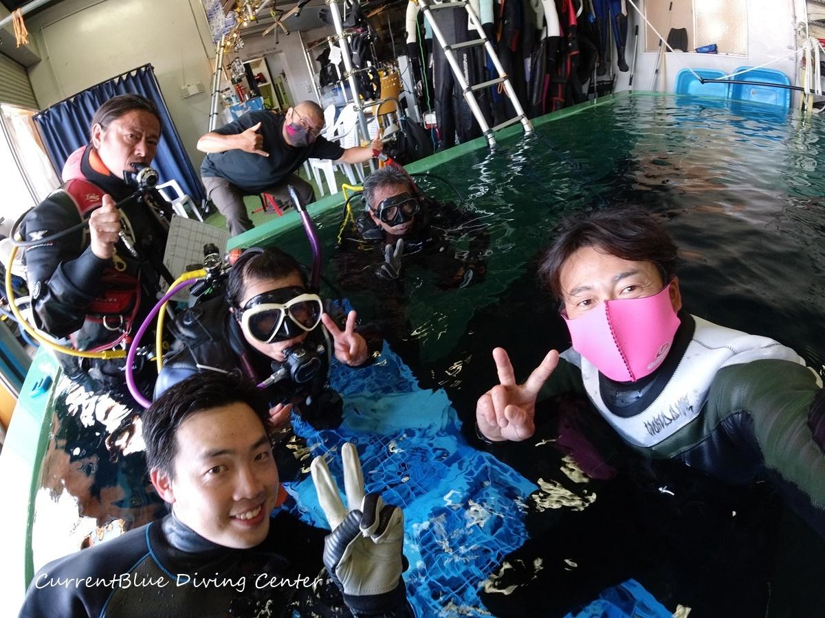 ダイビングインストラクターを目指す,PADIインストラクター試験,自社プールでダイビング練習 (1)