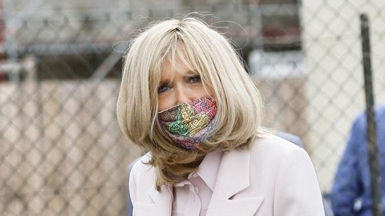 brigitte macron masque