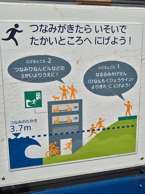 津波避難ピクトさん