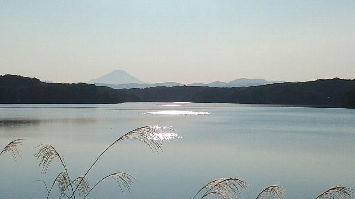 狭山湖からの富士
