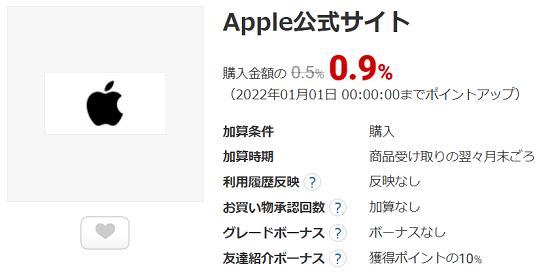 ECナビ Apple公式サイト案件