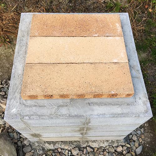 【DIY】畑にピザ窯とコンロを作る!① ~自然石と人口石の処理~⑩