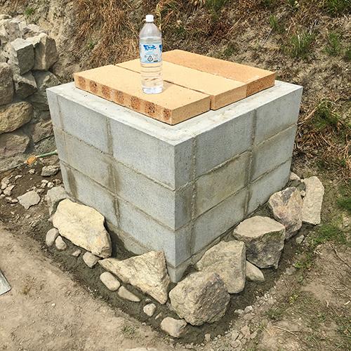 【DIY】畑にピザ窯とコンロを作る!② ~自然石の利用法~⑦