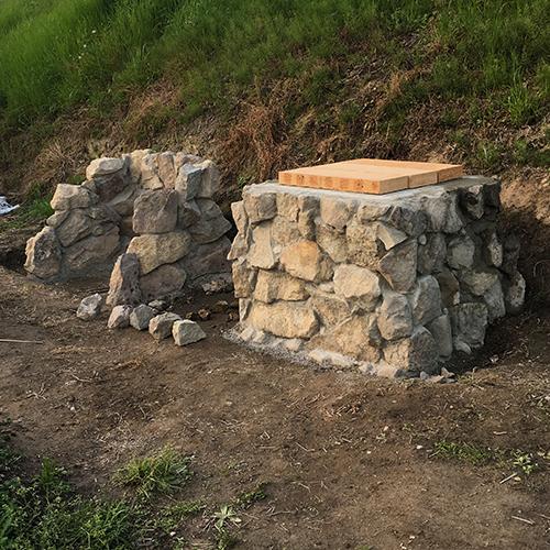 【DIY】畑にピザ窯とコンロを作る!② ~自然石の利用法~⑩
