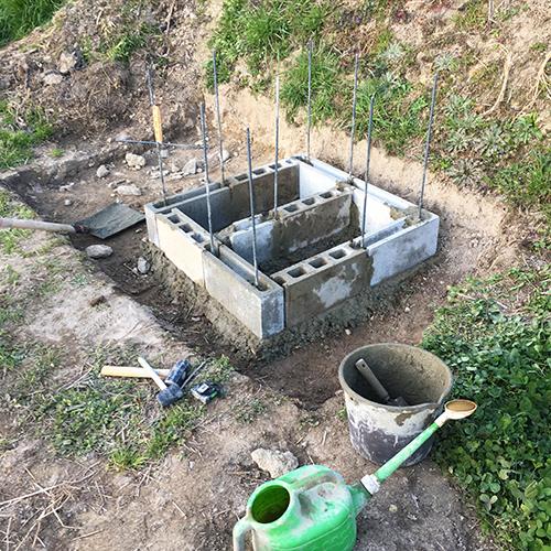 【DIY】畑にピザ窯とコンロを作る!① ~自然石と人口石の処理~④