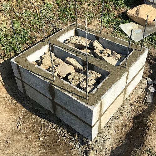 【DIY】畑にピザ窯とコンロを作る!① ~自然石と人口石の処理~⑥