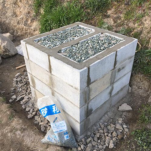 【DIY】畑にピザ窯とコンロを作る!① ~自然石と人口石の処理~⑧