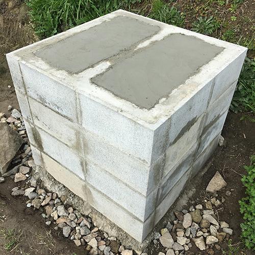 【DIY】畑にピザ窯とコンロを作る!① ~自然石と人口石の処理~⑨