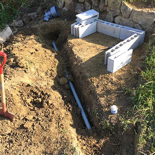 【DIY】畑に物置とトイレを作る! ~整地・配管~⑩