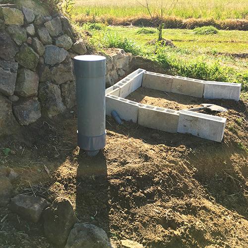 【DIY】畑に物置とトイレを作る! ~整地・配管~⑬