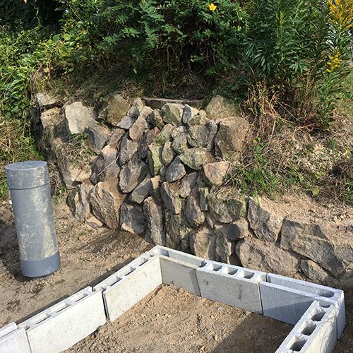 【DIY】畑に物置とトイレを作る! ~整地・配管~⑭