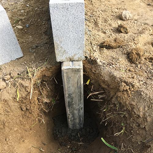 【DIY】畑に物置とトイレを作る! ~基礎~③