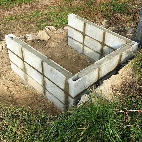 【DIY】畑に物置とトイレを作る! ~基礎~⑤