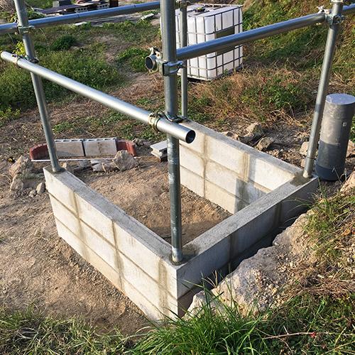 【DIY】畑に物置とトイレを作る! ~基礎~⑥
