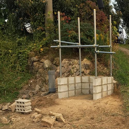 【DIY】畑に物置とトイレを作る! ~基礎~⑦