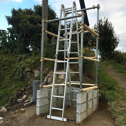 【DIY】畑に物置とトイレを作る! ~骨組み・屋根~①