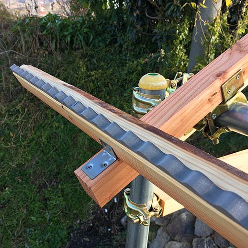 【DIY】畑に物置とトイレを作る! ~骨組み・屋根~④