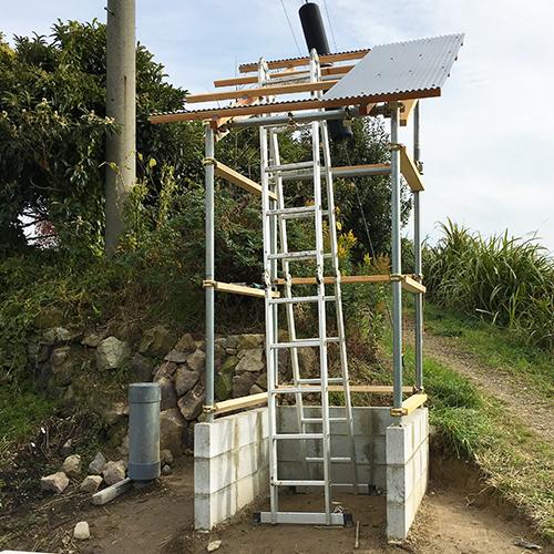 【DIY】畑に物置とトイレを作る! ~骨組み・屋根~⑤