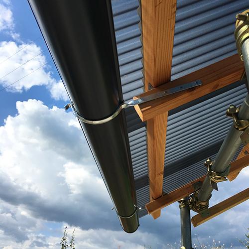 【DIY】畑に物置とトイレを作る! ~骨組み・屋根~⑩