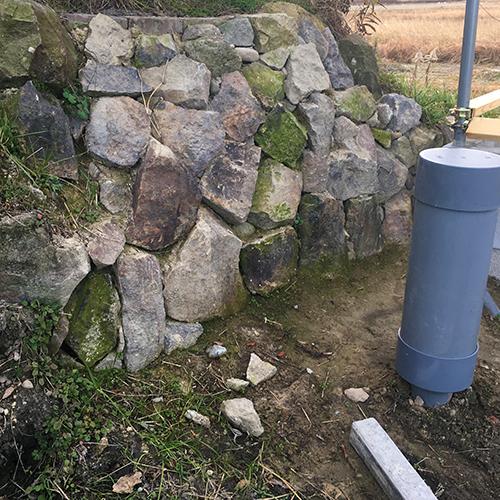 【DIY】畑に物置とトイレを作る! ~石垣をブロック塀に変える~①