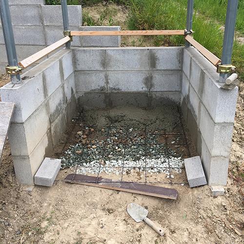 【DIY】畑に物置とトイレを作る! ~石垣をブロック塀に変える~⑪