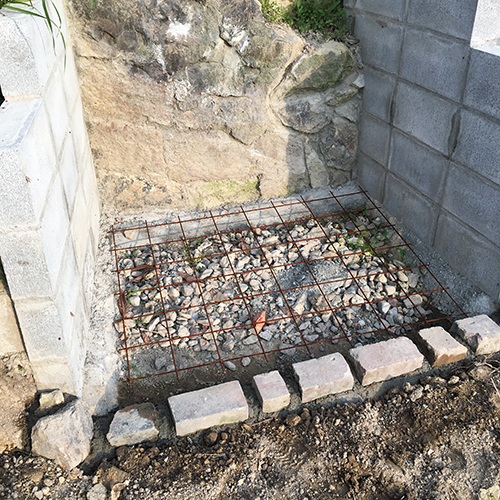 【DIY】畑に物置とトイレを作る! ~石垣をブロック塀に変える~⑫