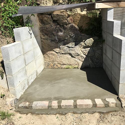 【DIY】畑に物置とトイレを作る! ~石垣をブロック塀に変える~⑬