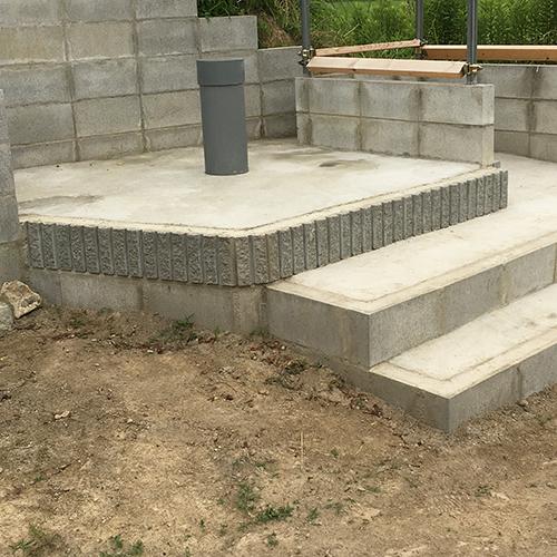 【DIY】畑に物置とトイレを作る! ~土留めを兼ねた階段を作る~⑪