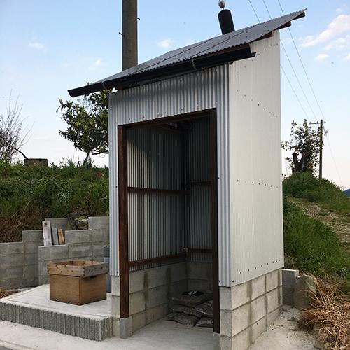 【DIY】畑に物置とトイレを作る!⑥ ~物置の波板の壁~⑦