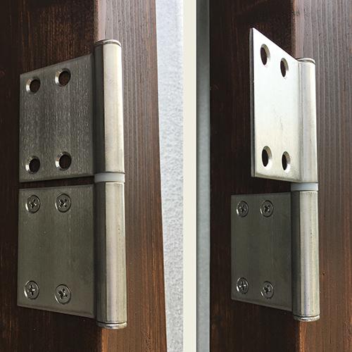 【DIY】畑に物置とトイレを作る!⑥ ~簡単な扉を作る~②