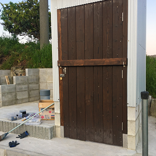 【DIY】畑に物置とトイレを作る!⑥ ~簡単な扉を作る~⑪