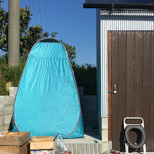 【DIY】畑に物置とトイレを作る!⑧ ~必要な時だけ用意するトイレ~①