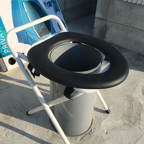 【DIY】畑に物置とトイレを作る!⑧ ~必要な時だけ用意するトイレ~④