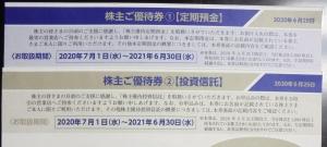 東邦銀行株主優待2020