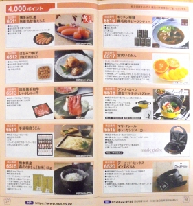 NSD株主優待カタログの2