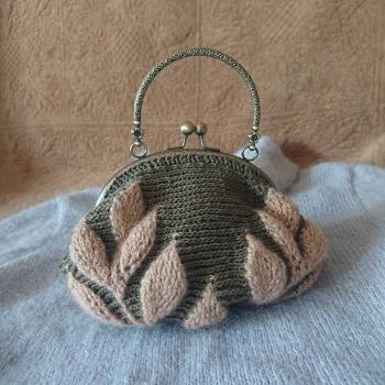 リーフ編みバッグ3