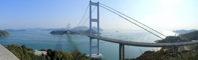 来島海峡展望台からの眺めS
