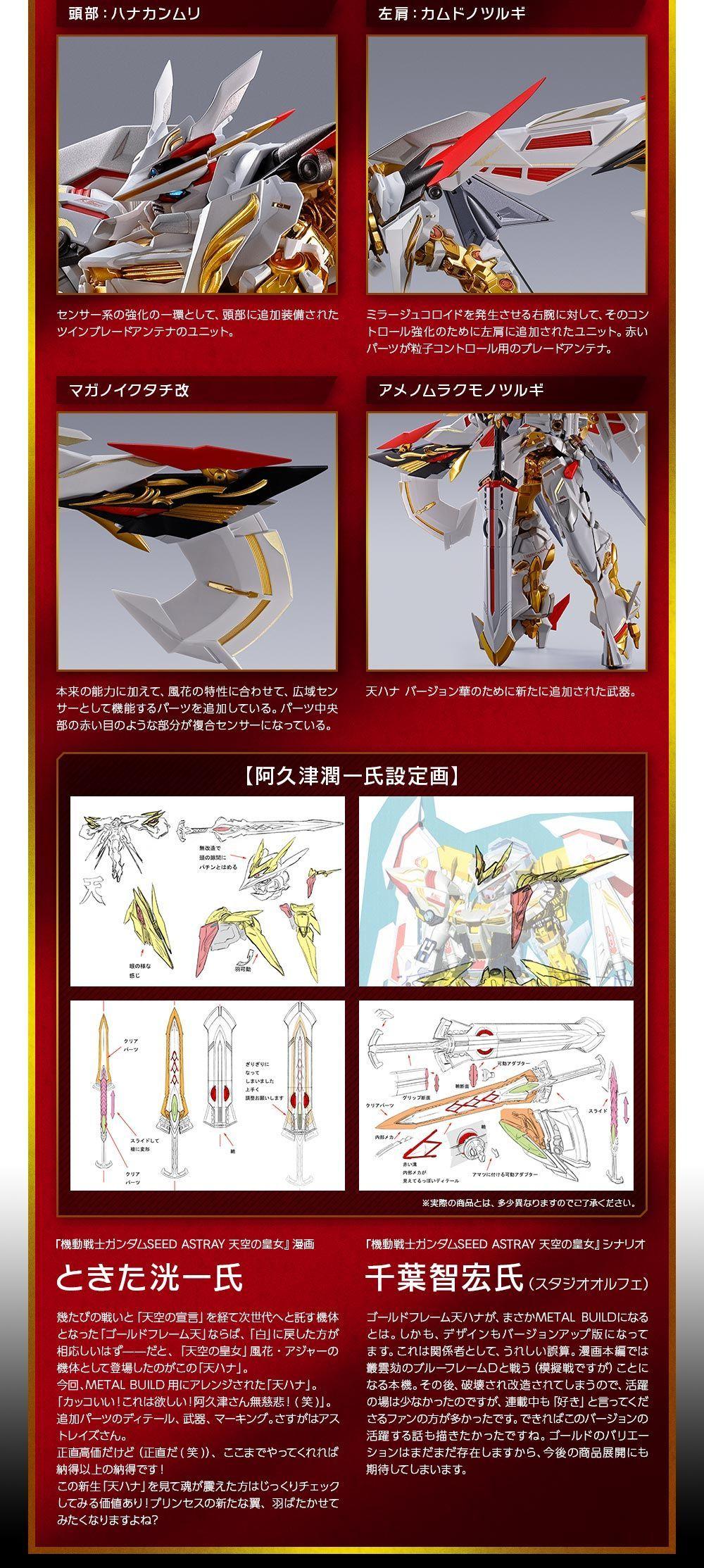 METAL BUILD ガンダムアストレイ ゴールドフレーム天ハナ バージョン華03