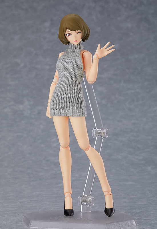 figma Styles 女性body(チアキ) with バックレスセーターコーデFIGURE-120706_01