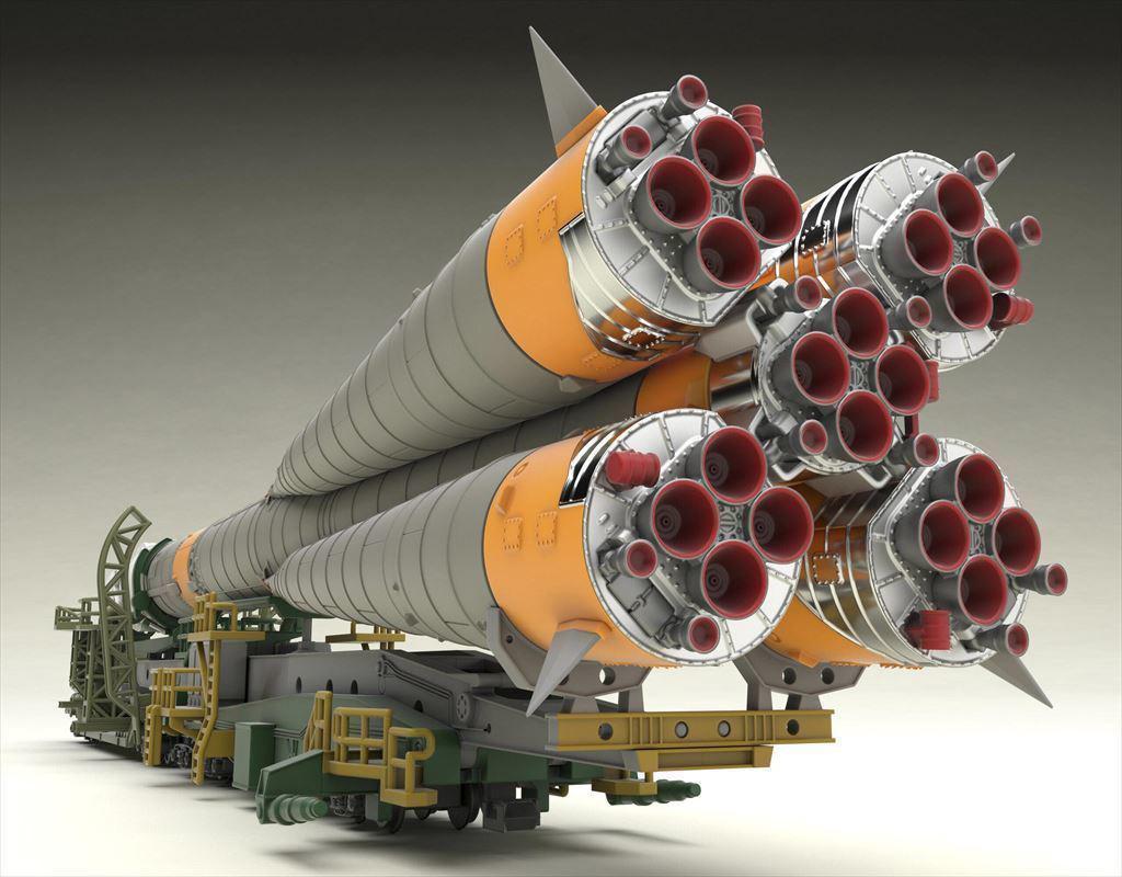 1150 ソユーズロケット_搬送列車 プラモデルTOY-SCL2-80346_11