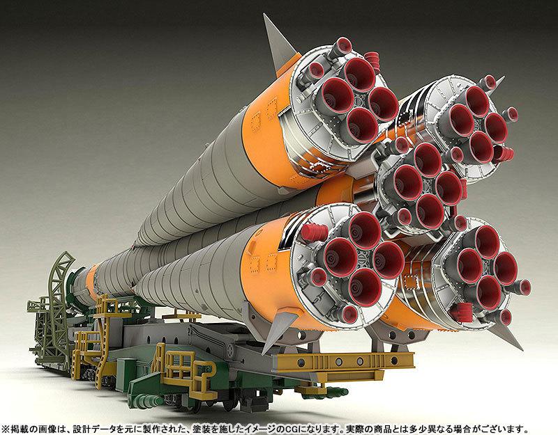 1150 ソユーズロケット_搬送列車 プラモデルTOY-SCL2-80346_01