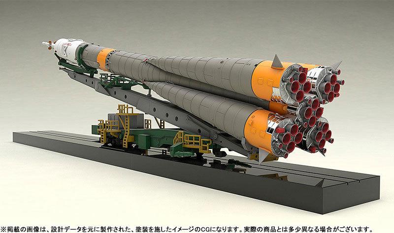 1150 ソユーズロケット_搬送列車 プラモデルTOY-SCL2-80346_02