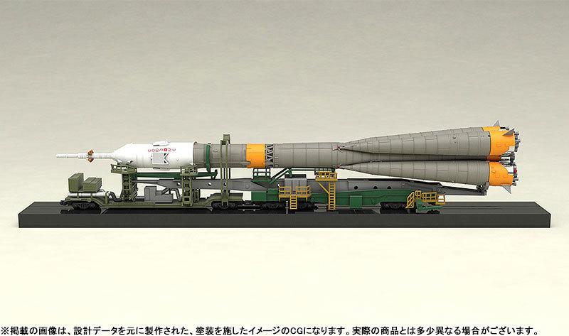 1150 ソユーズロケット_搬送列車 プラモデルTOY-SCL2-80346_04