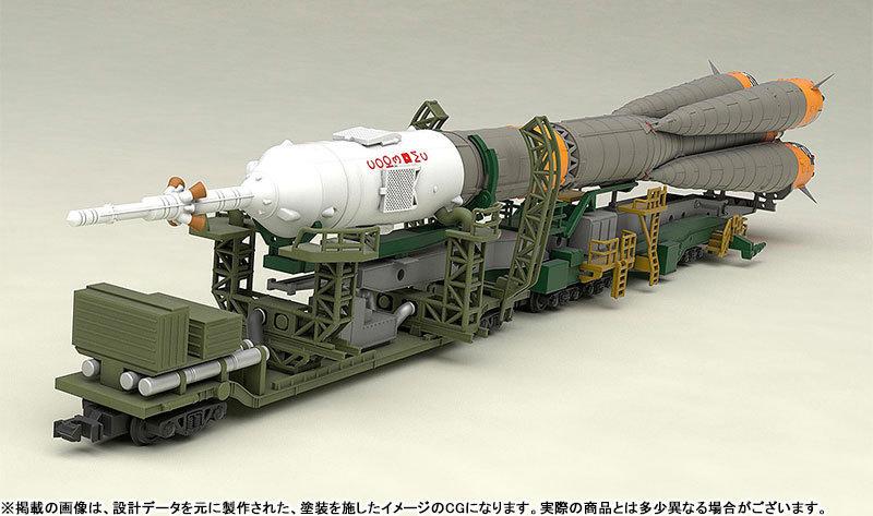 1150 ソユーズロケット_搬送列車 プラモデルTOY-SCL2-80346_05