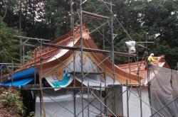 黒石住吉神社 屋根の棟仕舞3