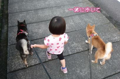 一緒に歩いて