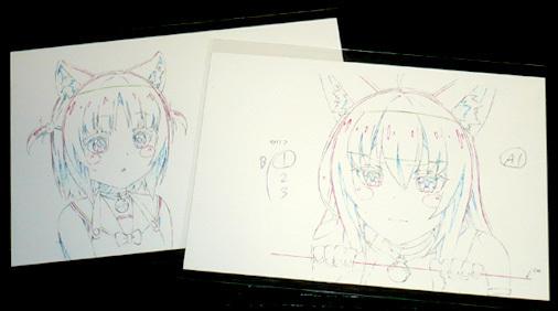 ネコぱらてん atアキバCOギャラリー 原画ポストカード