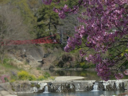 岩堰橋と陽光 1