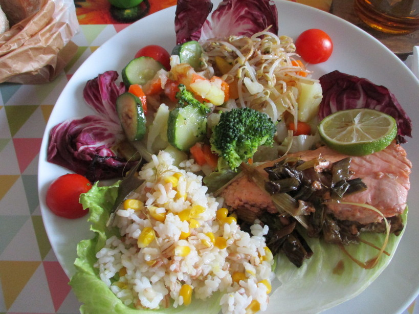 salmone_all_aglio_limone_lime_toumorokoshi_gohan201111
